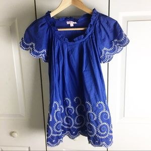 Romeo & Juliet Couture Peasant Blouse w/embroidery